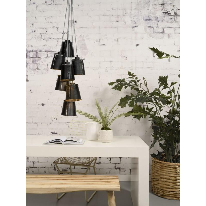 Amazon SMALL 7 paralume lampada pneumatici riciclati (nero) - image 45026