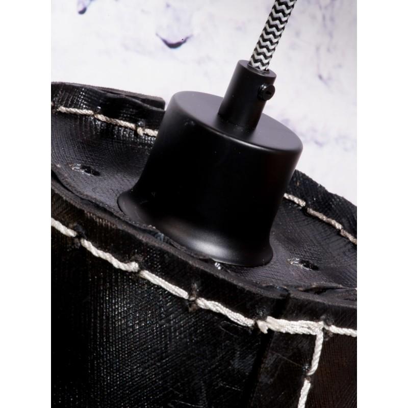 Amazon XL 1 tovagliolo riciclato tonalità lampada per sospensioni pneumatici (nero) - image 45033