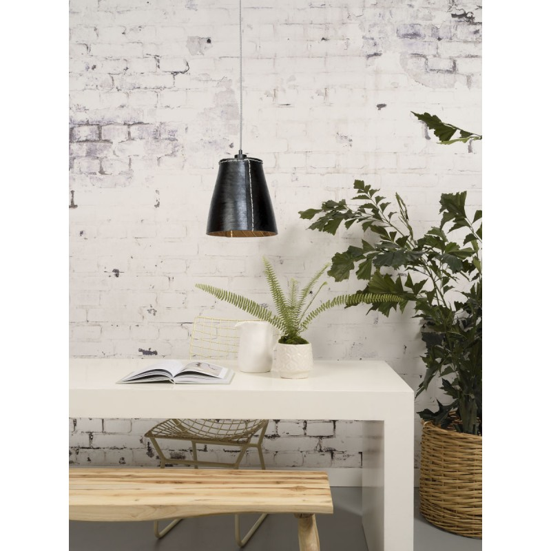 AMAZON XL 1 recycled tire suspension lamp shade (black) - image 45037