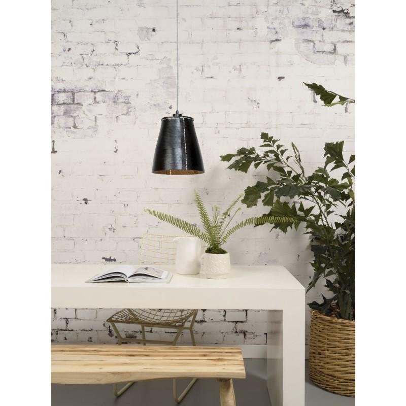Amazon XL 1 tovagliolo riciclato tonalità lampada per sospensioni pneumatici (nero) - image 45037