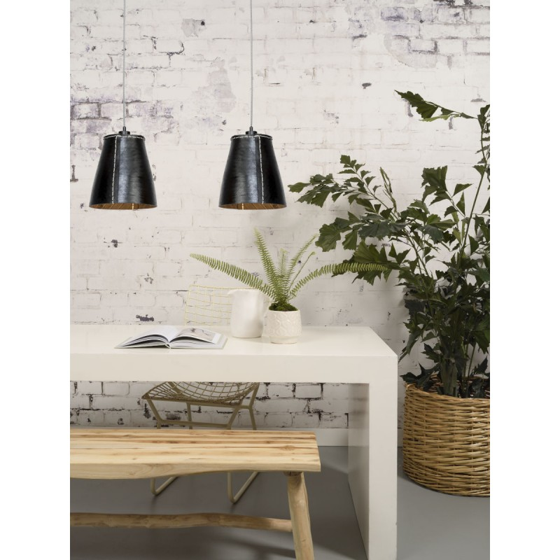 Amazon XL 1 tovagliolo riciclato tonalità lampada per sospensioni pneumatici (nero) - image 45038