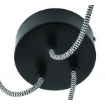Lampe à suspension en pneu recyclé AMAZON XL 3 abat-jours (noir)