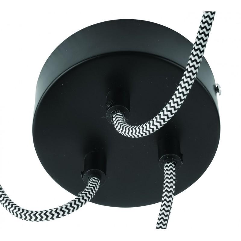 Lampe à suspension en pneu recyclé AMAZON XL 3 abat-jours (noir) - image 45046