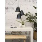 Amazon XL 3 paralume lampada pneumatici riciclati (nero)