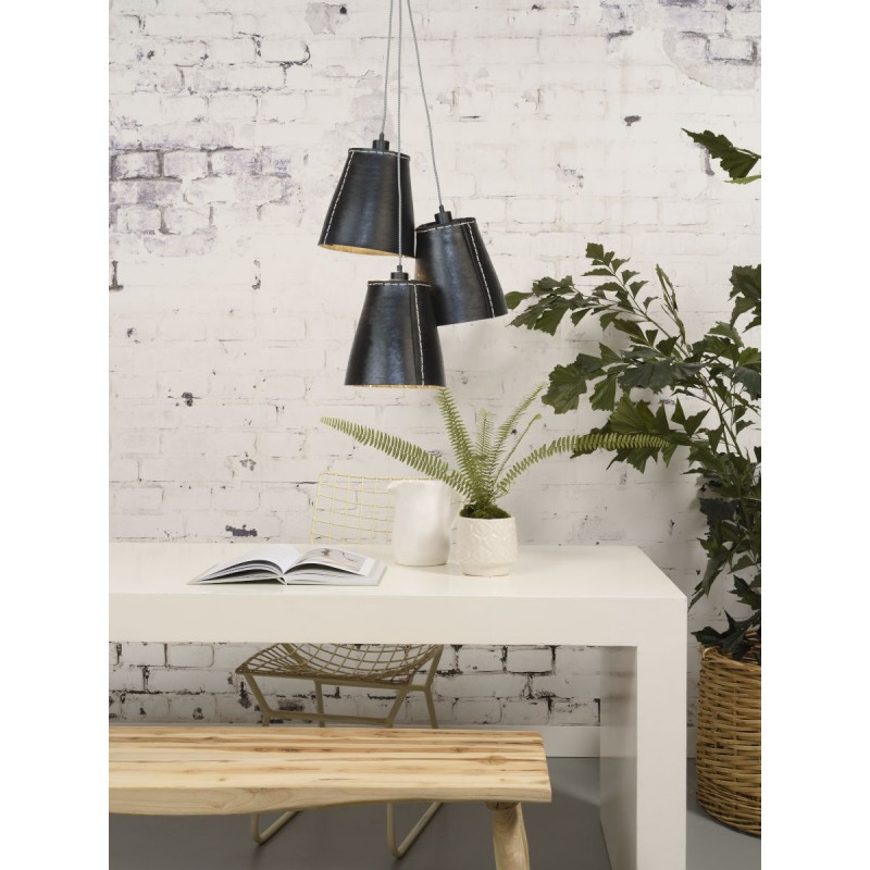 AMAZON XL 3 lampshade recycled tire suspension lamp (black) - image 45047