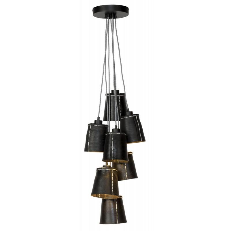 AMAZON XL 7 pneumatici riciclati lampada lampada tonalità lampada (nero)
