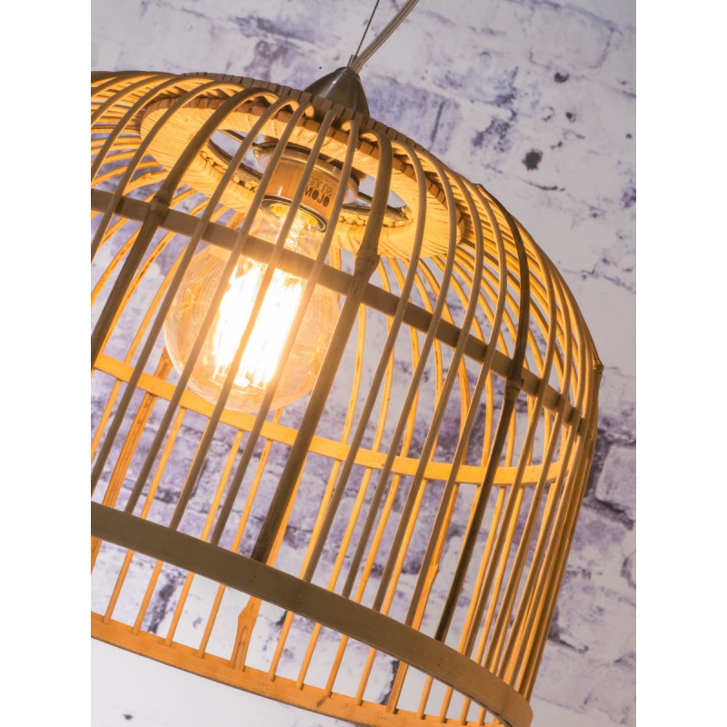 Lámpara de suspensión de bambú BORNEO SMALL 2 pantallas (natural) - image 45070