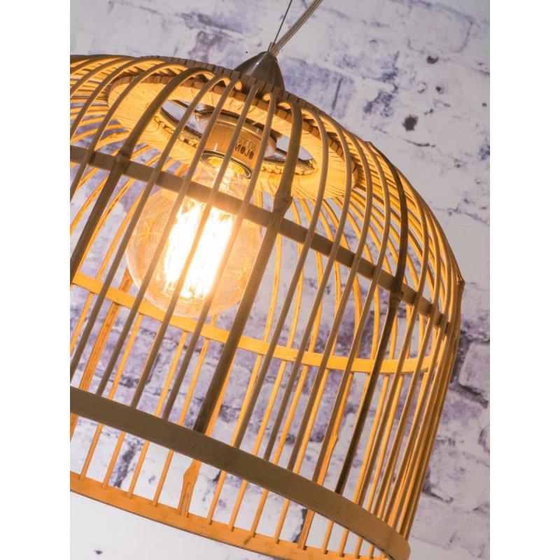 Bambus Hängeleuchte BORNEO SMALL 2 Lampenschirme (natürlich) - image 45070
