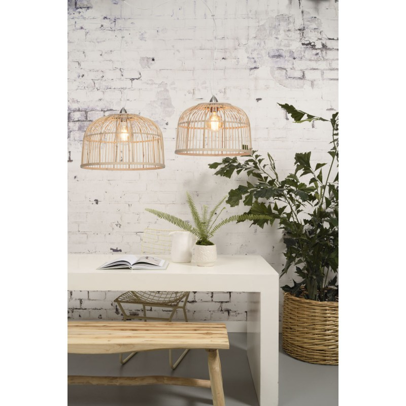 BORNEO XL bamboo suspension lamp (natural) - image 45083