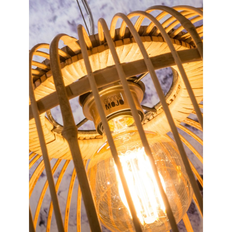 Lampe à suspension en bambou BORNEO XL 2 abat-jours (naturel) - image 45086
