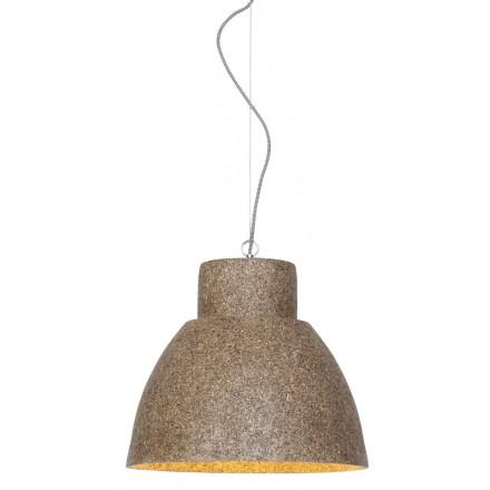 CEBU wood chip suspension lamp (natural)
