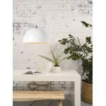 Lampe à suspension en bambou HALONG (blanc)