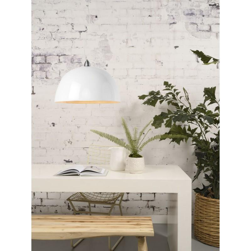 HALONG Bambus Hängeleuchte (weiß) - image 45128
