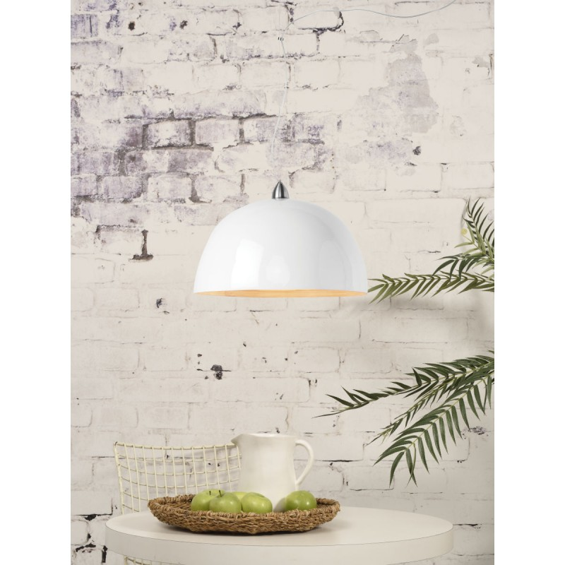 HALONG bamboo suspension lamp (white) - image 45130