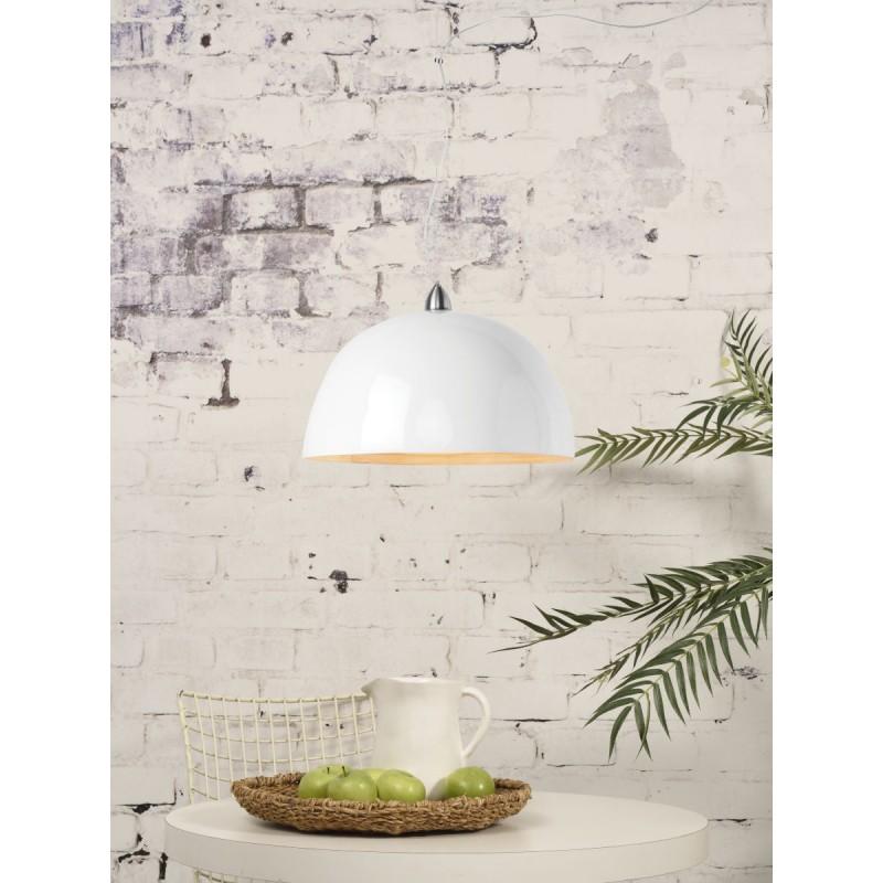 Lampe à suspension en bambou HALONG (blanc) - image 45130