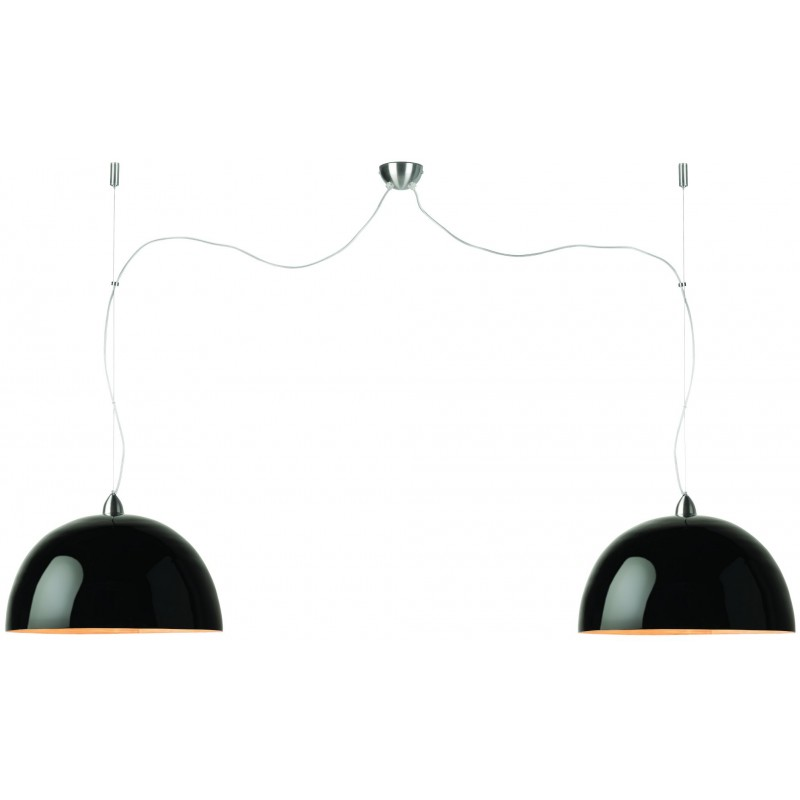 HALONG Bamboo Suspension Lamp 2 paralumi (nero)