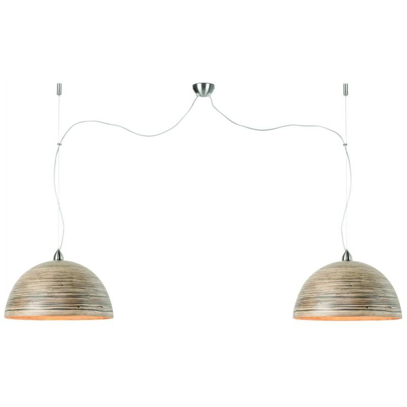 HALONG Bamboo Suspension Lamp 2 paralumi (naturale) - image 45137