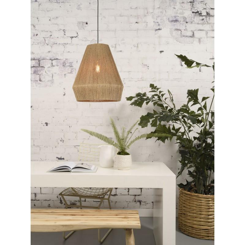 Lampe à suspension en jute IGUAZU SMALL (Ø 40 cm) (naturel) - image 45166