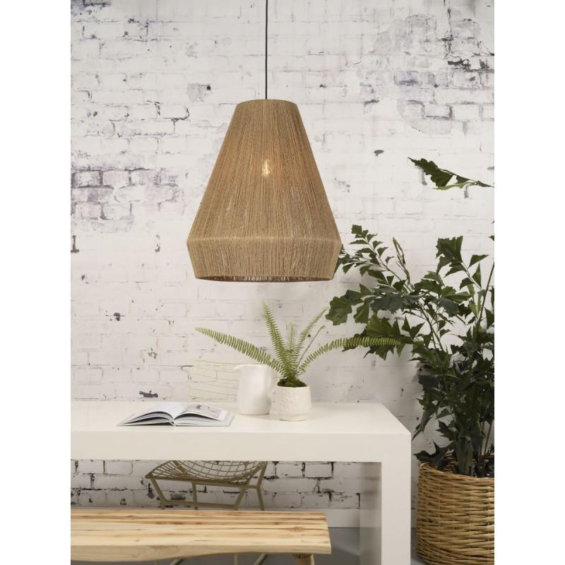 Lampe à suspension en jute IGUAZU XL (Ø 50 cm) (naturel) - image 45178