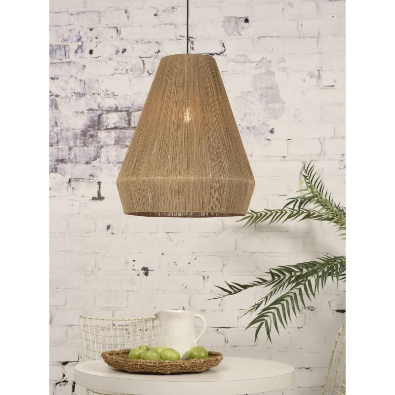 Lampe à suspension en jute IGUAZU XL (Ø 50 cm) (naturel) - image 45180