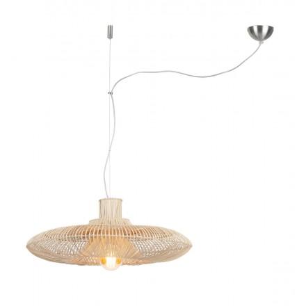 Lámpara de suspensión de ratán KALAHARI XL (natural)