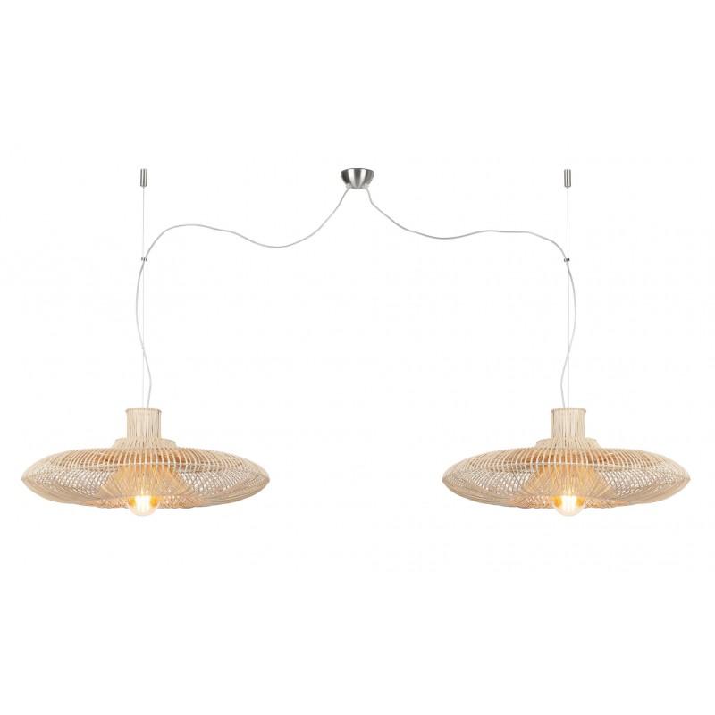 KaLAHARI XL 2 paralume (naturale) lampada in rattan - image 45215
