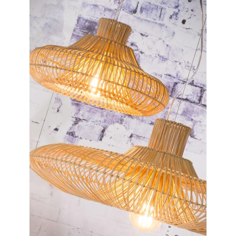 KALAHARI XL 2 Lampenschirm (natürlich) Rattan Hängeleuchte - image 45216