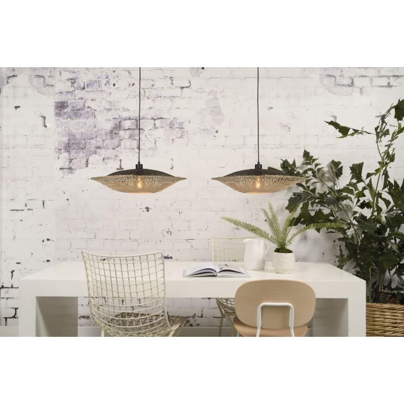 KALIMANTAN SMALL bamboo suspension lamp (natural, black) - image 45223
