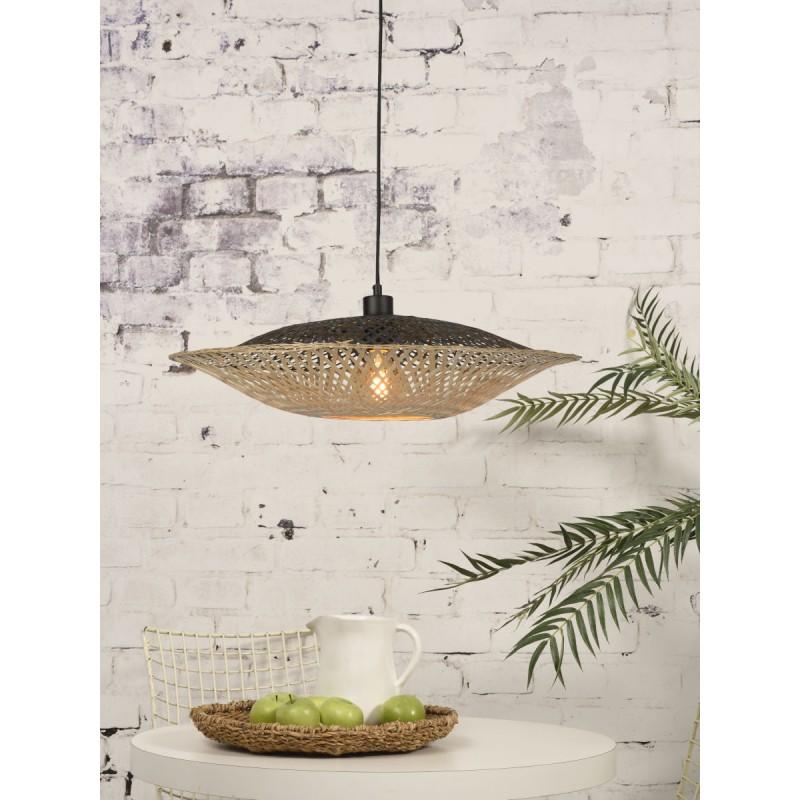 KALIMANTAN SMALL bamboo suspension lamp (natural, black) - image 45224