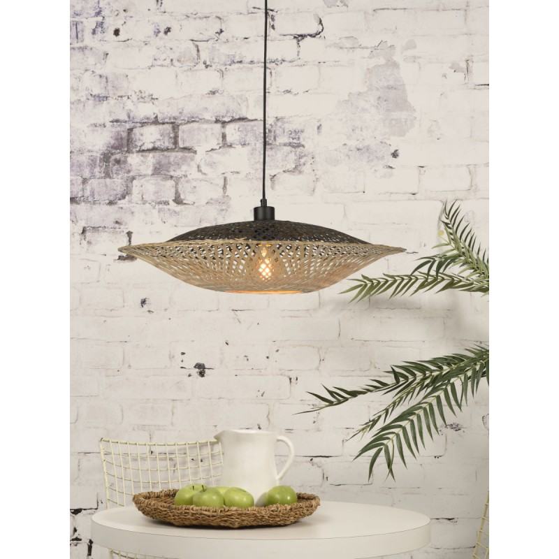 KaliMANTAN SMALL lámpara de suspensión de bambú (natural, negro) - image 45224
