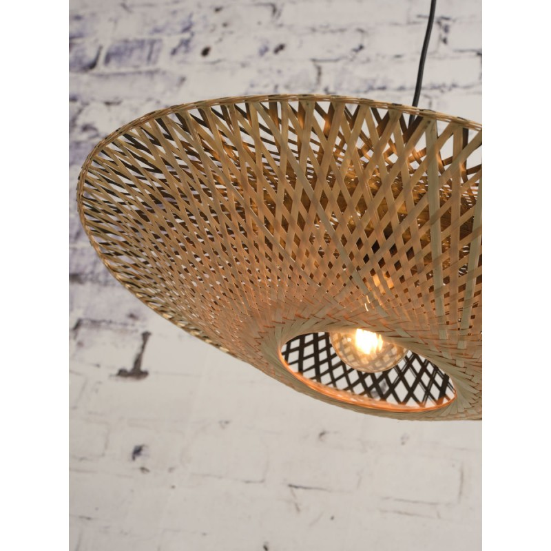KALIMANTAN SMALL bamboo suspension lamp (natural, black) - image 45226