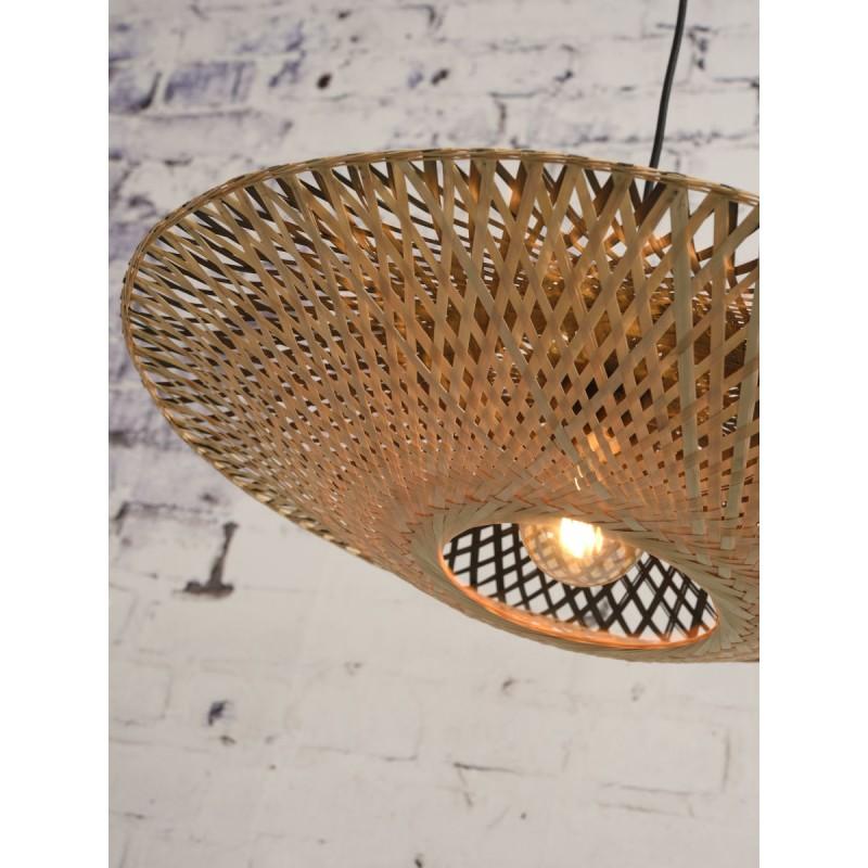 Lampe à suspension en bambou KALIMANTAN SMALL (naturel, noir) - image 45226