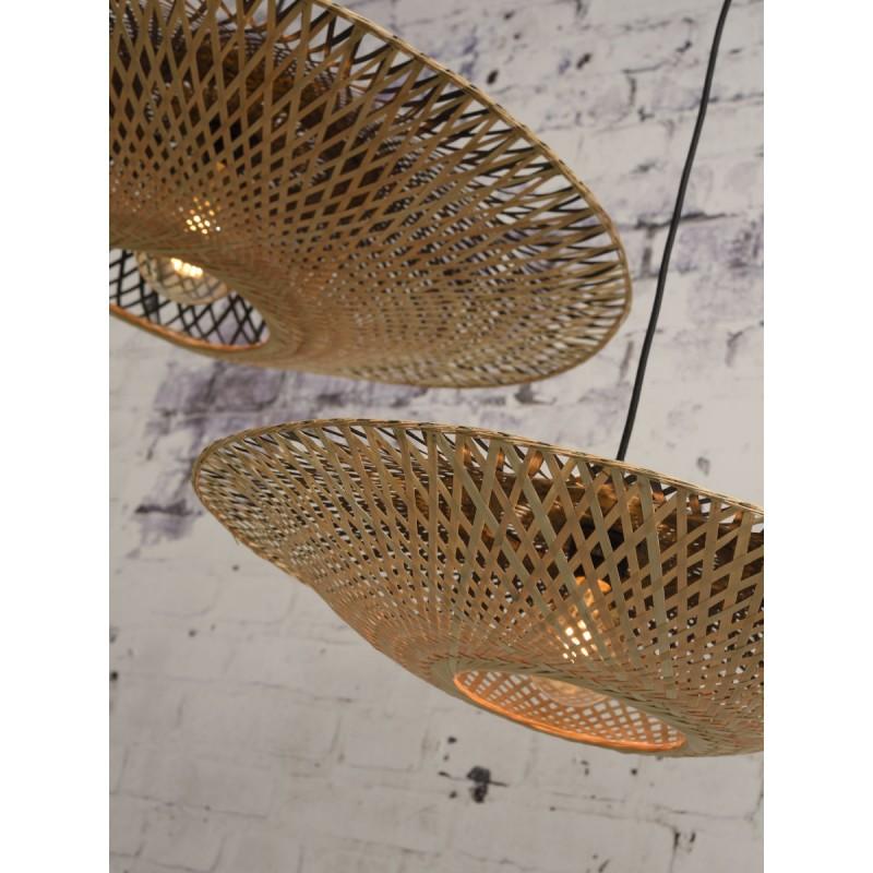 KALIMANTAN SMALL bamboo suspension lamp (natural, black) - image 45229