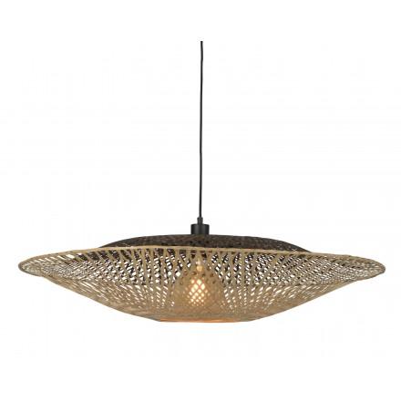 Lámpara de suspensión de bambú KALIMANTAN XL (natural, negro)