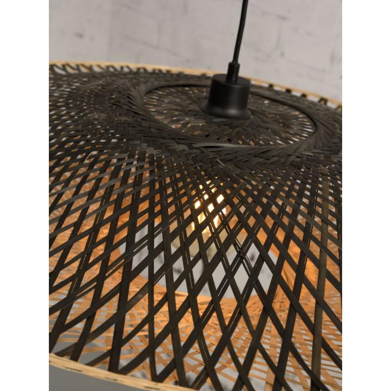 Lámpara de suspensión de bambú KALIMANTAN XL (natural, negro) - image 45235