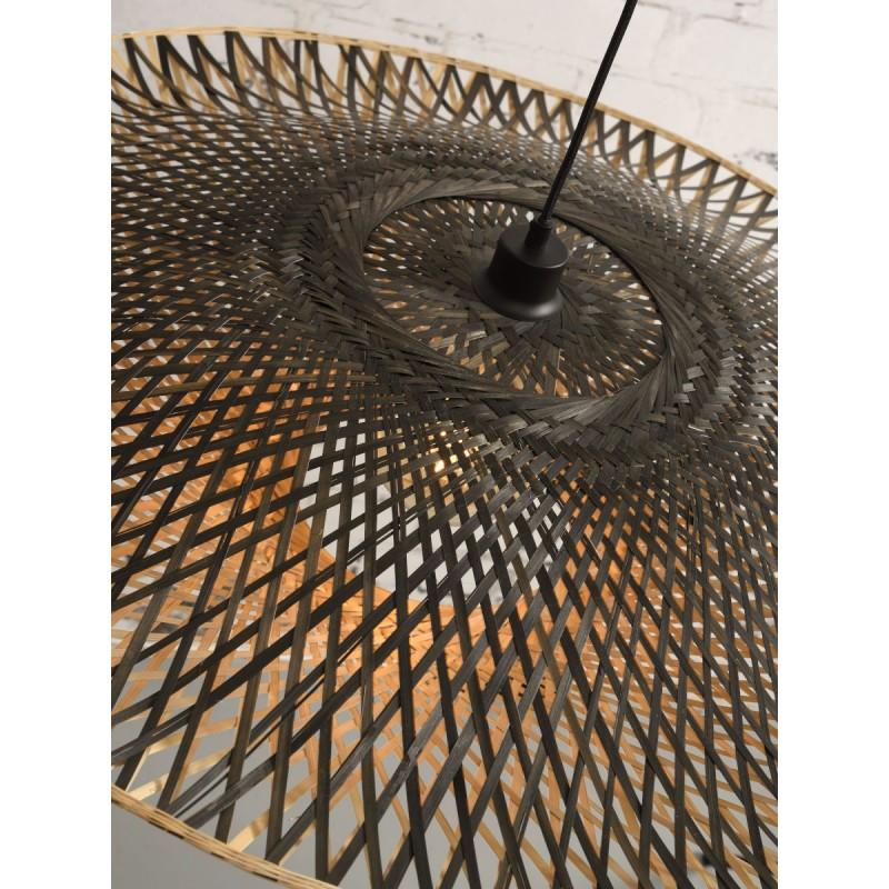 KALIMANTAN XL bamboo suspension lamp (natural, black) - image 45239