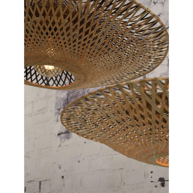 Lampada sospensione bambù KALIMANTAN XL (naturale, nera) - image 45240