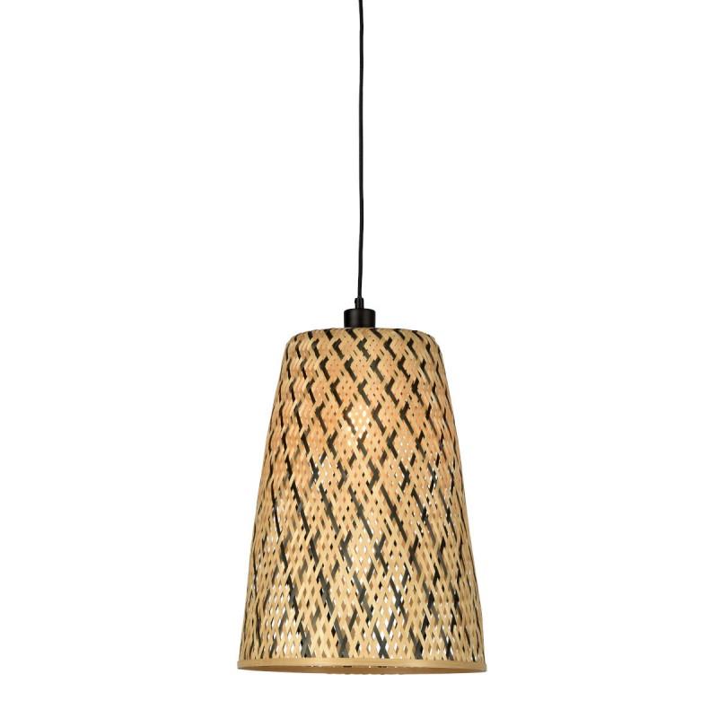 KALIMANTAN H48 bamboo suspension lamp (natural, black) - image 45255
