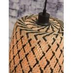 KALIMANTAN H48 bamboo suspension lamp (natural, black)