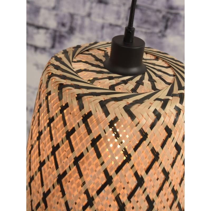 Lámpara de suspensión de bambú KALIMANTAN H48 (natural, negro) - image 45260
