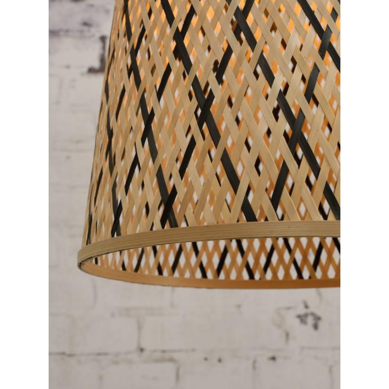 KALIMANTAN H48 bamboo suspension lamp (natural, black) - image 45262