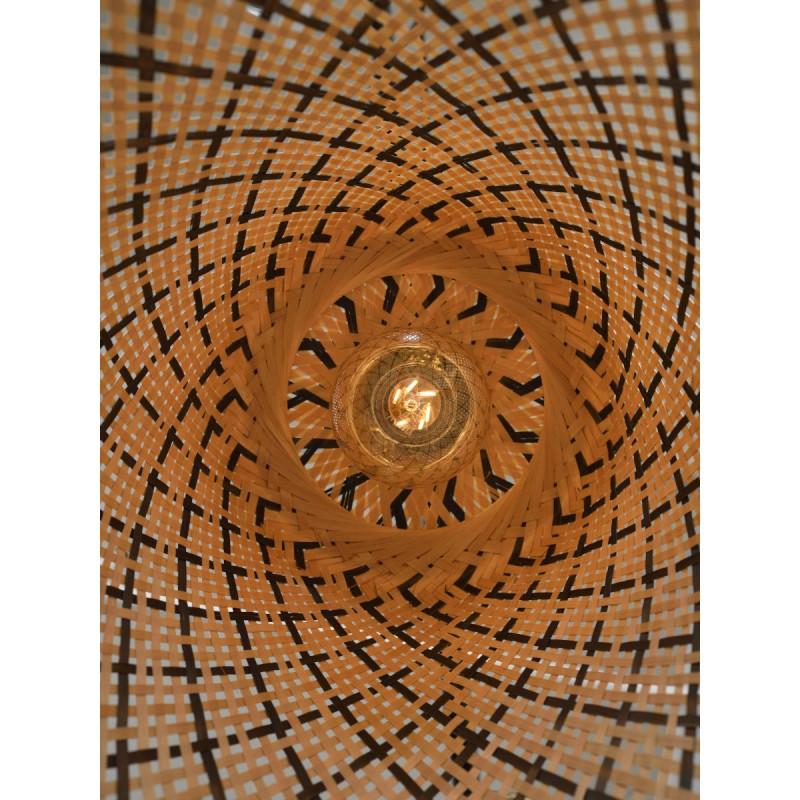 Lampe à suspension en bambou KALIMANTAN H48 (naturel, noir) - image 45264