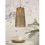 Lampe à suspension en bambou KALIMANTAN H66 (naturel, noir)