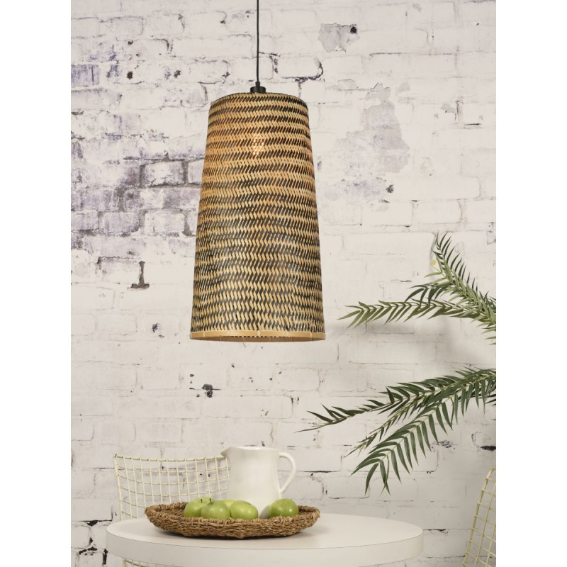 KALIMANTAN H66 bamboo suspension lamp (natural, black) - image 45269