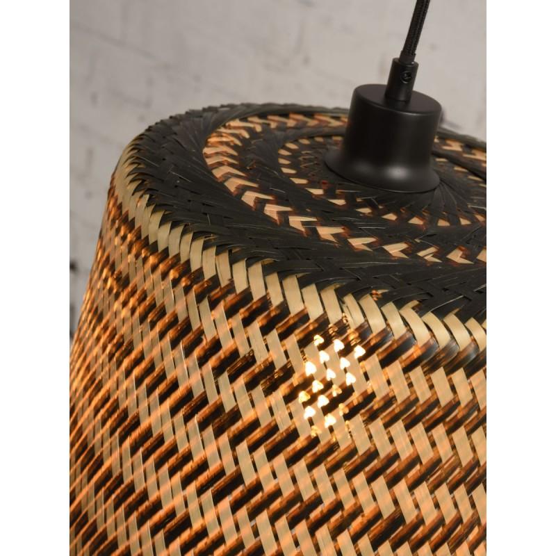 Lampe à suspension en bambou KALIMANTAN H66 (naturel, noir) - image 45271
