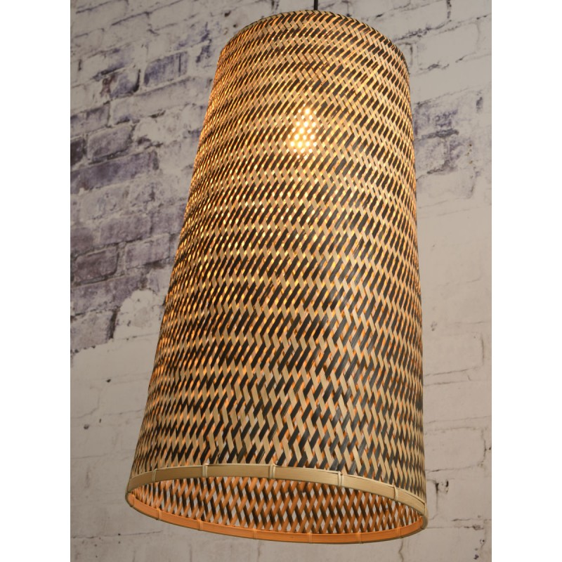 Lámpara de suspensión de bambú KALIMANTAN H66 (natural, negro) - image 45272