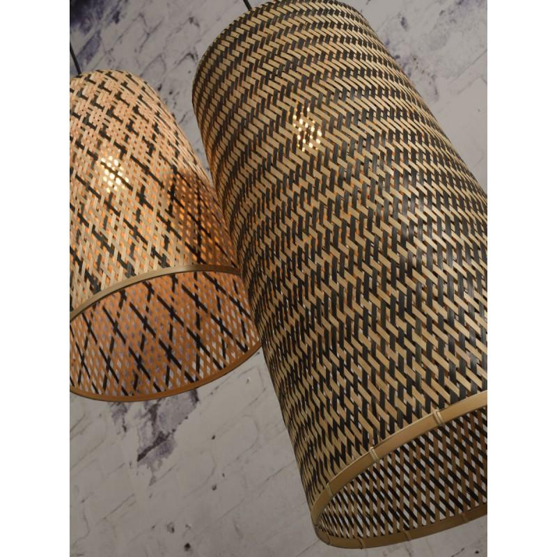 KALIMANTAN H66 bamboo suspension lamp (natural, black) - image 45274