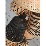 KaliMANTAN 7 paracanti a sospensione in bambù (naturale, nero)