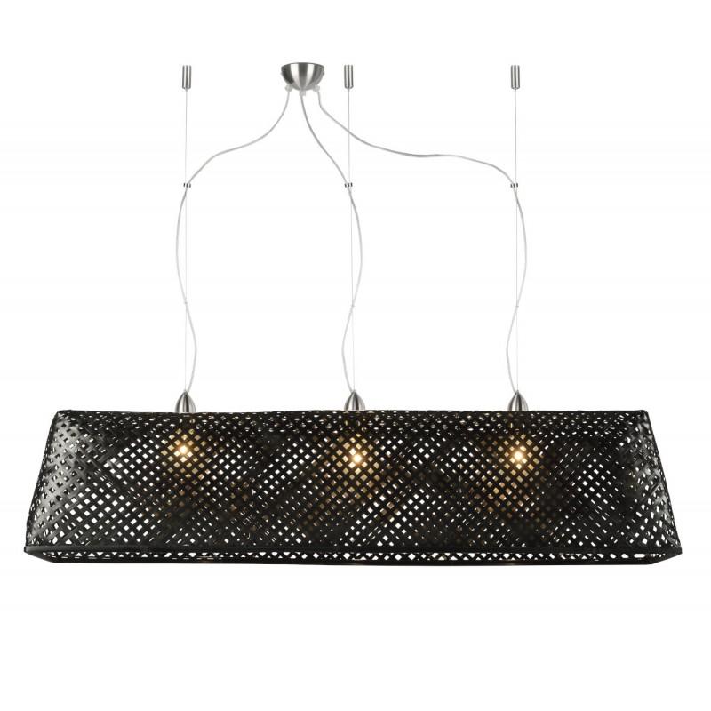 KOMODO lampada sospensione bambù (nero)