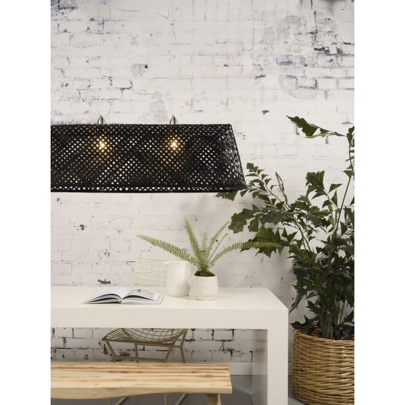 Lampe à suspension en bambou KOMODO (noir) - image 45306